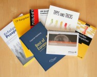 Verschiedene Bücher von Unternehmen