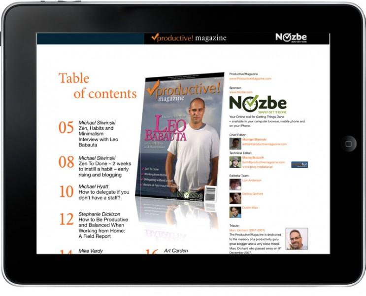 iPad mit Inhalt