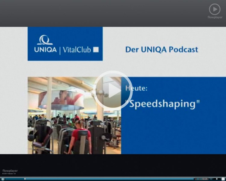 Ein Screenshot von einem Uniqa-Video