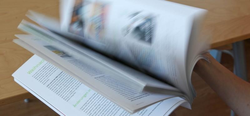 Nicht nur schöner zum Durchblättern: Volumenpapier.