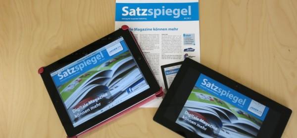 Die neue Ausgabe des Satzspiegel als Online-PDF