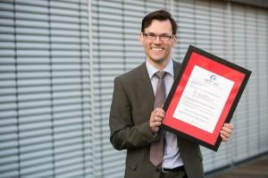 Clemens Jager freut sich über eine Auszeichnung beim internationalen Mercury Excellence Award.