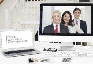Website von Dyck & Monticelli Rechtsanwälte