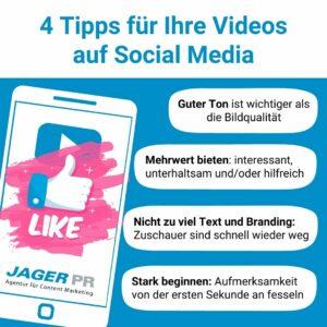 Tipps für Social Media Videos von Jager PR